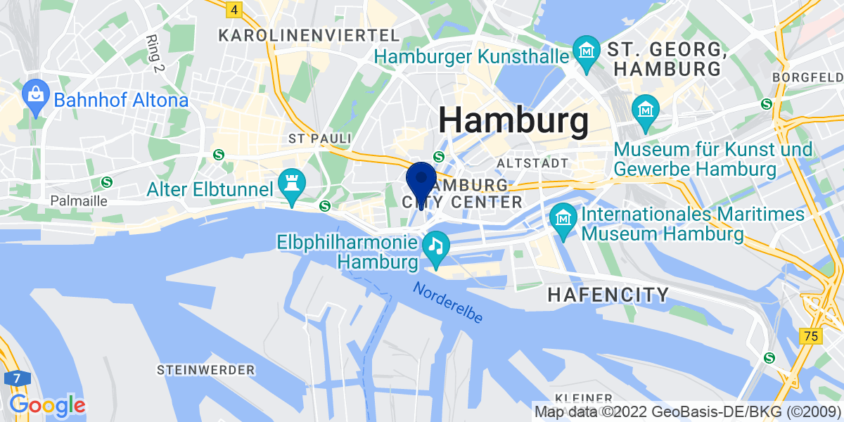 Google Map of bdp Hamburg Hafen, Steinhöft 5, 20459 Hamburg