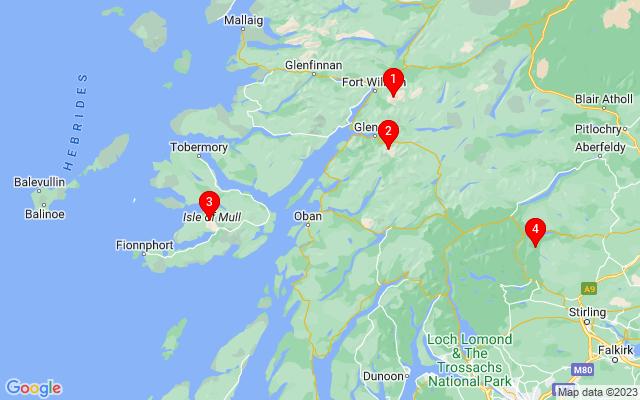 Google Map of benderloch Scotland