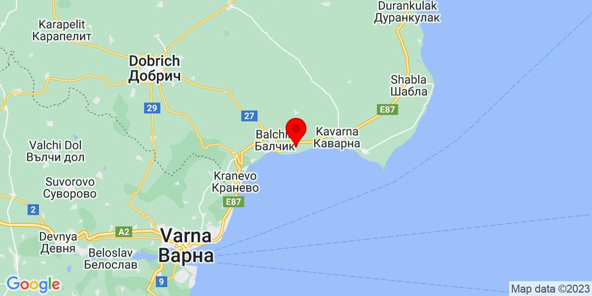Google Map of black sea rama
