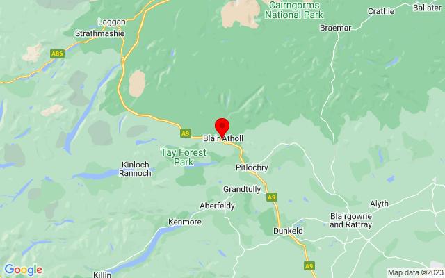 Google Map of blair castle scotland