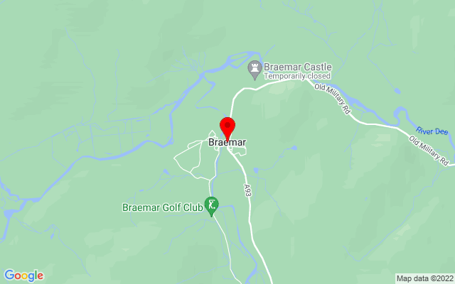 Google Map of braemar ballater