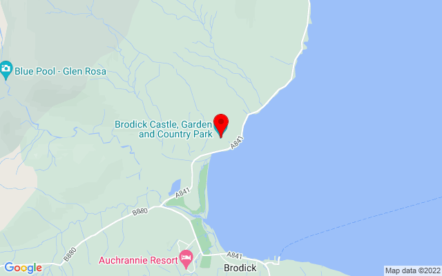 Google Map of brodick castle