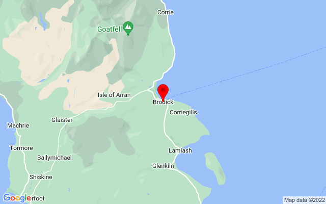 Google Map of brodick isle of arran