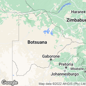 Botsuana Map