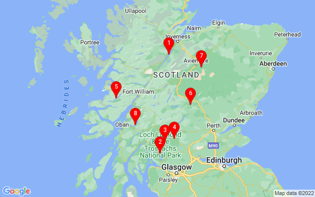 Google Map of corrour Scotland