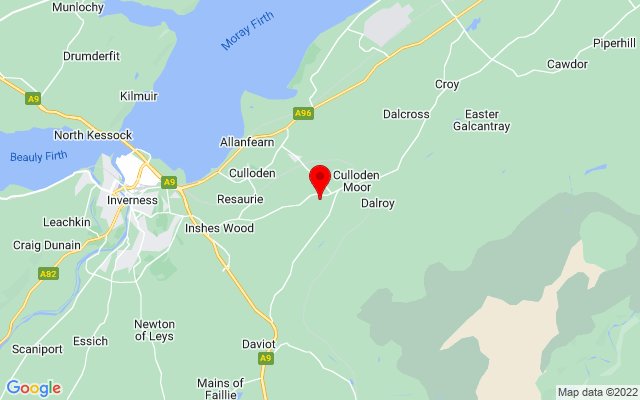 Google Map of culloden battlefield