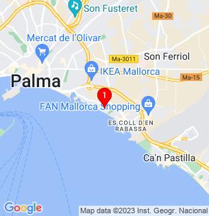 Google Map of de la Gruta, Palma de Mallorca, BALEARES, Spain