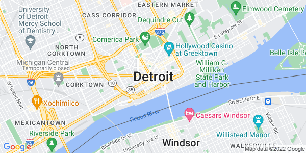 Google Map of Detroit