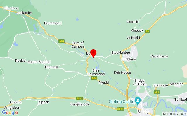 Google Map of doune castle