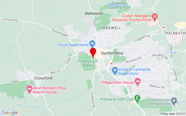 Google Map of dunfermline abbey