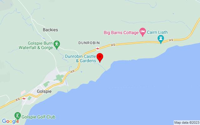Google Map of dunrobin castle