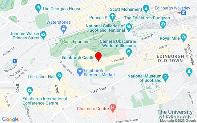 Google Map of edinburgh castle