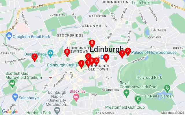 Google Map of edinburgh scott monument