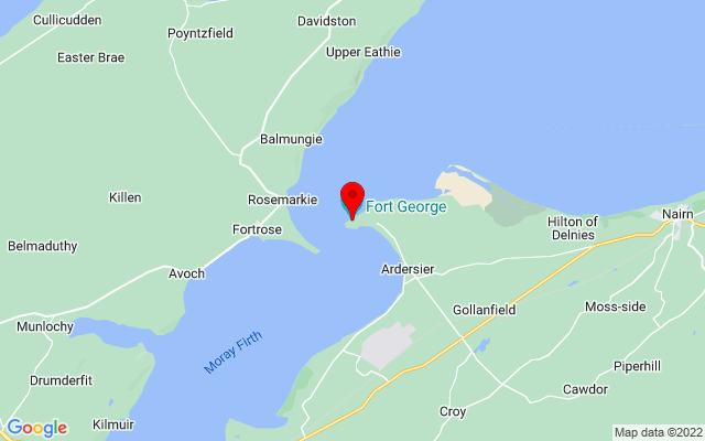 Google Map of fort george scotland