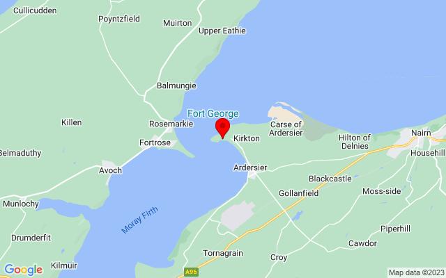 Google Map of fort george scotland