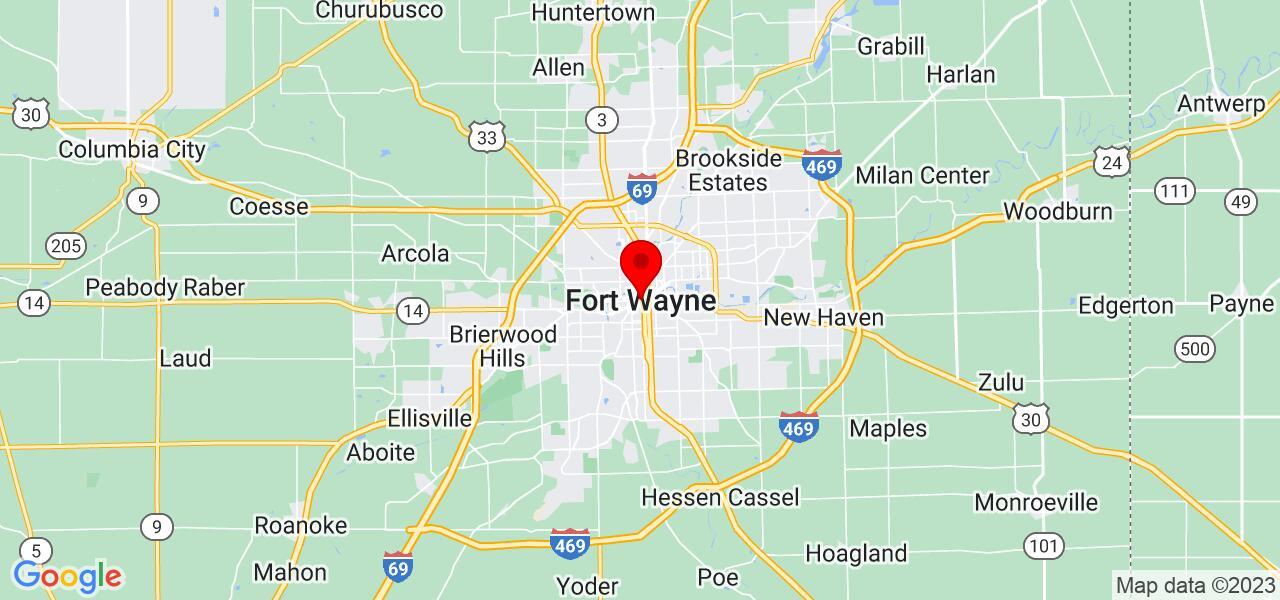Google Map of fort wayne