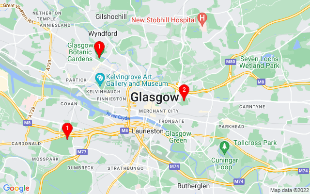 Google Map of glasgow