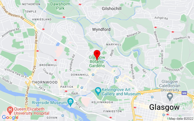 Google Map of glasgow botanic gardens