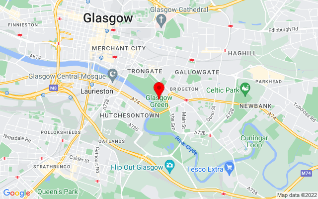Google Map of glasgow green