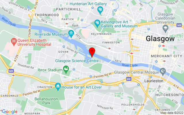 Google Map of glasgow science centre