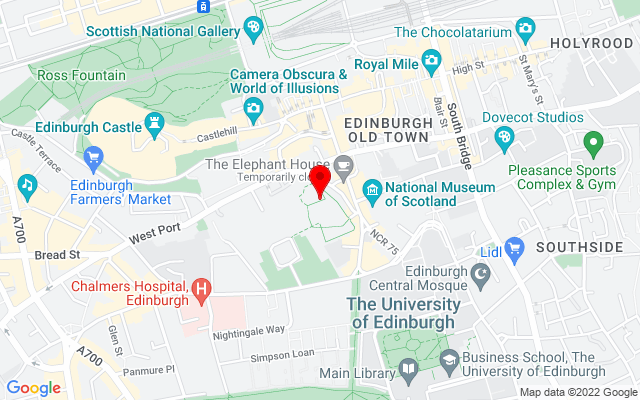 Google Map of greyfriars kirk scotland
