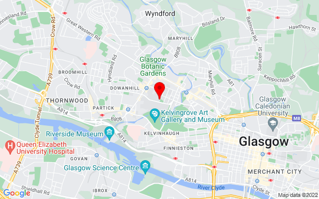 Google Map of hunterian museum glasgow