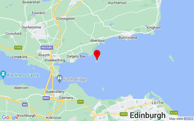 Google Map of inchcolm abbey