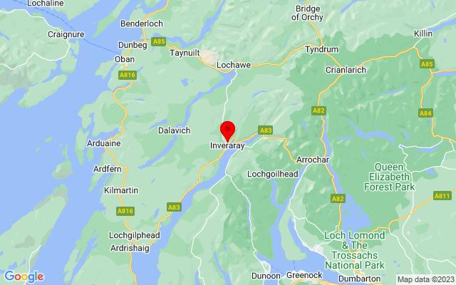 Google Map of inveraray castle