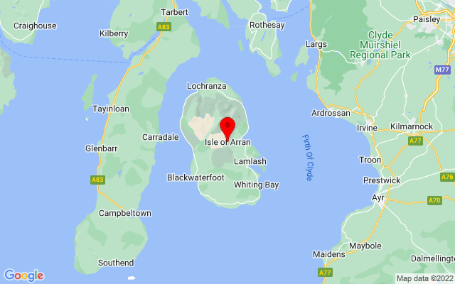 Google Map of isle of arran