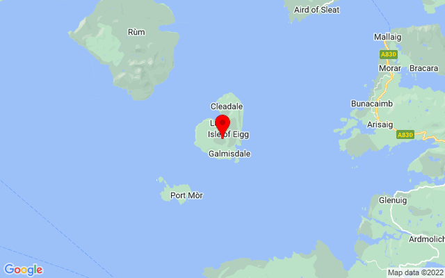 Google Map of isle of eigg