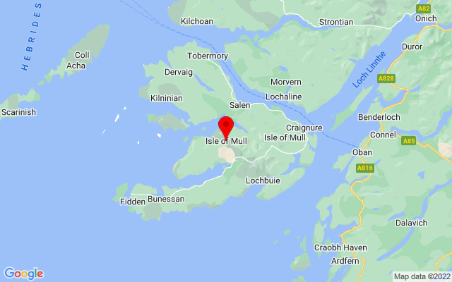 Google Map of isle of mull