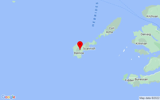 Google Map of isle of tiree