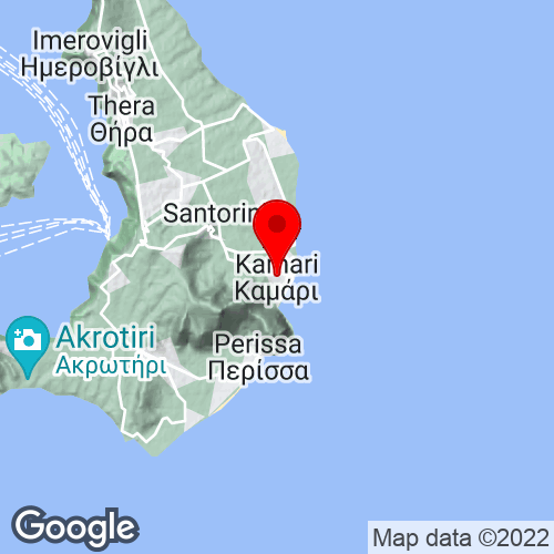 Google Map of kamari, santorini