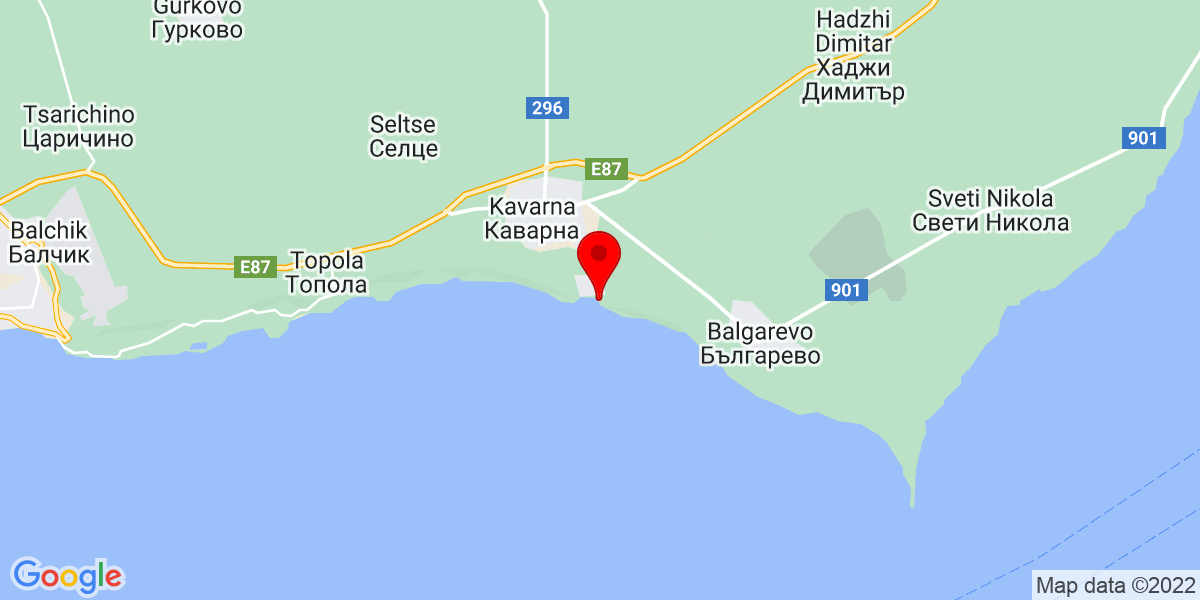 Google Map of kavarna beach