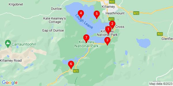 Google Map of killarney national park