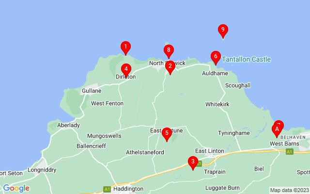 Google Map of kingston east lothian scotland