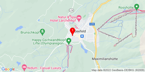Google Map of klausnerhof, seefeld