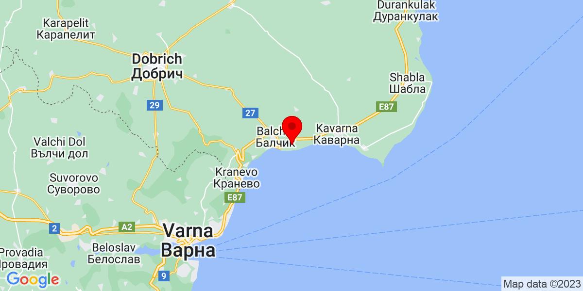 Google Map of lighthouse golf club bulgaria