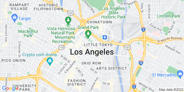 Google Map of Los Angeles