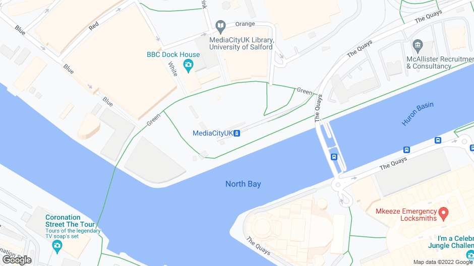 mediacity uk<br/>salford quays<br/>(directly opposite mediacity uk tram stop)<br/>