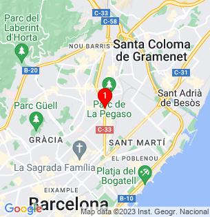 Google Map of meridiana, Barcelona, BARCELONA, Spain