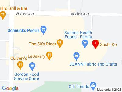 Google Map of metro centre peoria