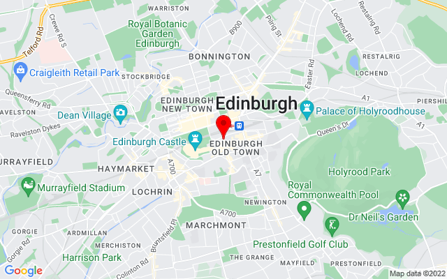 Google Map of museum on the mound edinburgh