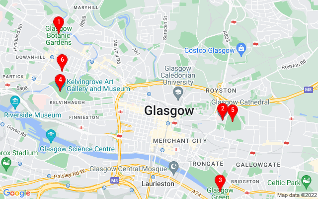 Google Map of national piping centre glasgow