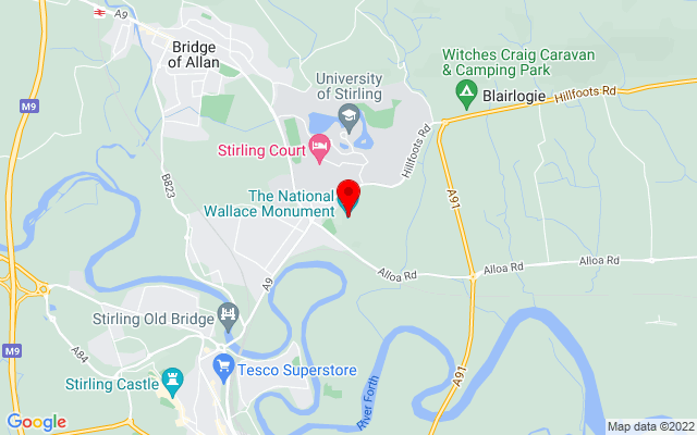 Google Map of national wallace monument