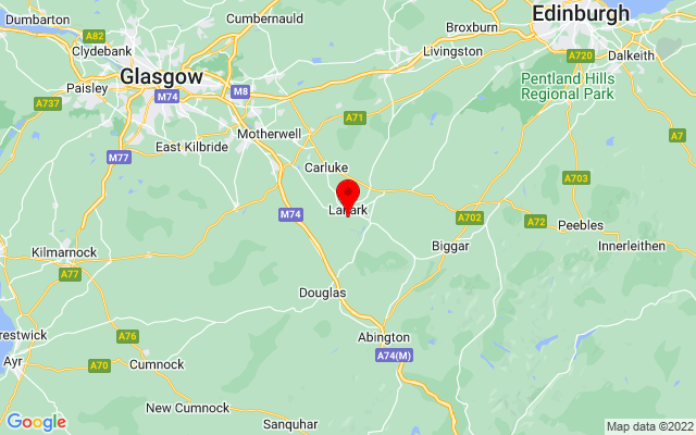 Google Map of new lanark world heritage centre