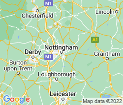 small map of Nottingham