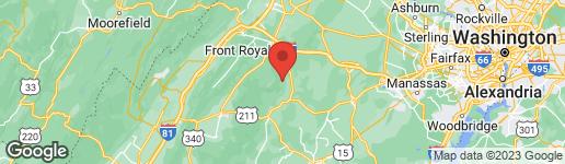 Map of OLD BROWNTOWN LANE HUNTLY, VA 22640