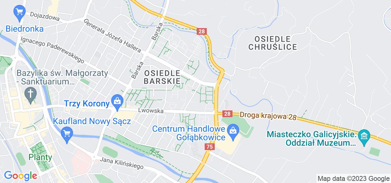 Osiedle os. Westerplatte w Nowym Sączu – w tych punktach ekspresowo wyślesz turbinę do autoryzowanego serwisu
