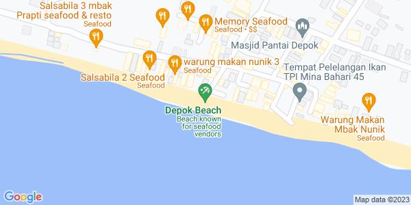 Google Map of pantai depok